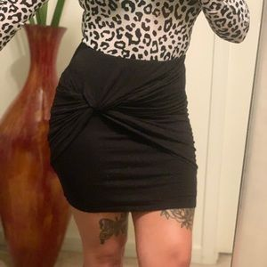 Fashion nova knot detail ruched mini skirt